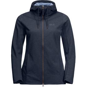 Jack Wolfskin Riverland Hooded Jacket Women midnight blue